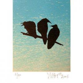 <em>De laatste lemming</em> – Hans Wap (Luxe editie: gesigneerd boek + zeefdruk <em>Drie raven</em>)