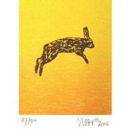 <em>De laatste lemming</em> – Hans Wap (Luxe editie: gesigneerd boek + zeefdruk <em>Springende haas</em>)