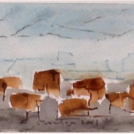 <em>Plateau Les Bokooes</em>, 1997 (aquarel)