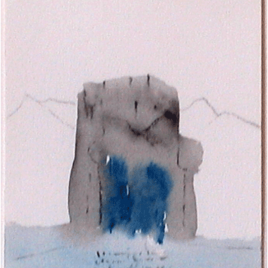 <em>Spirit House Border I</em> (aquarel)