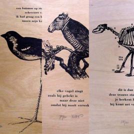 <em>Zeefdrukken op hout</em>